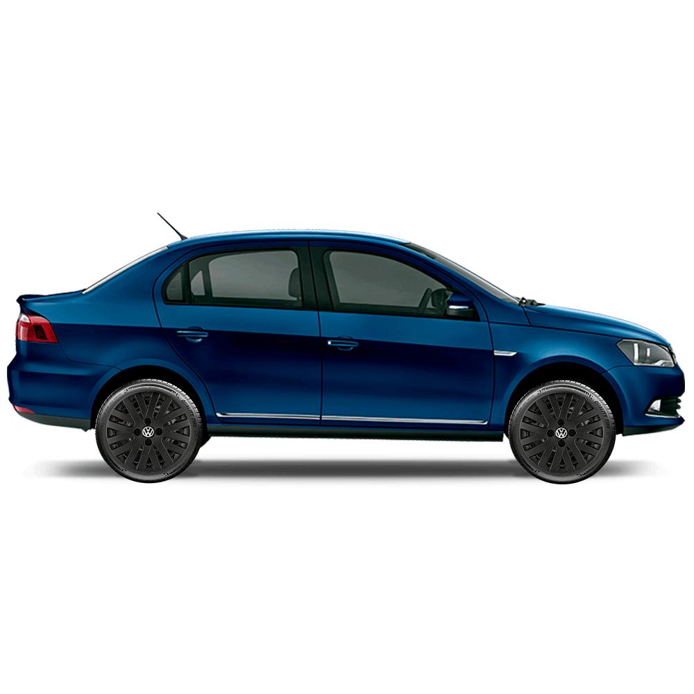 Calota Preto Fosco Jogo 4Pçs Volkswagen Gol Saveiro Parati G2 G3 G3 Aro 14 G009Pfj