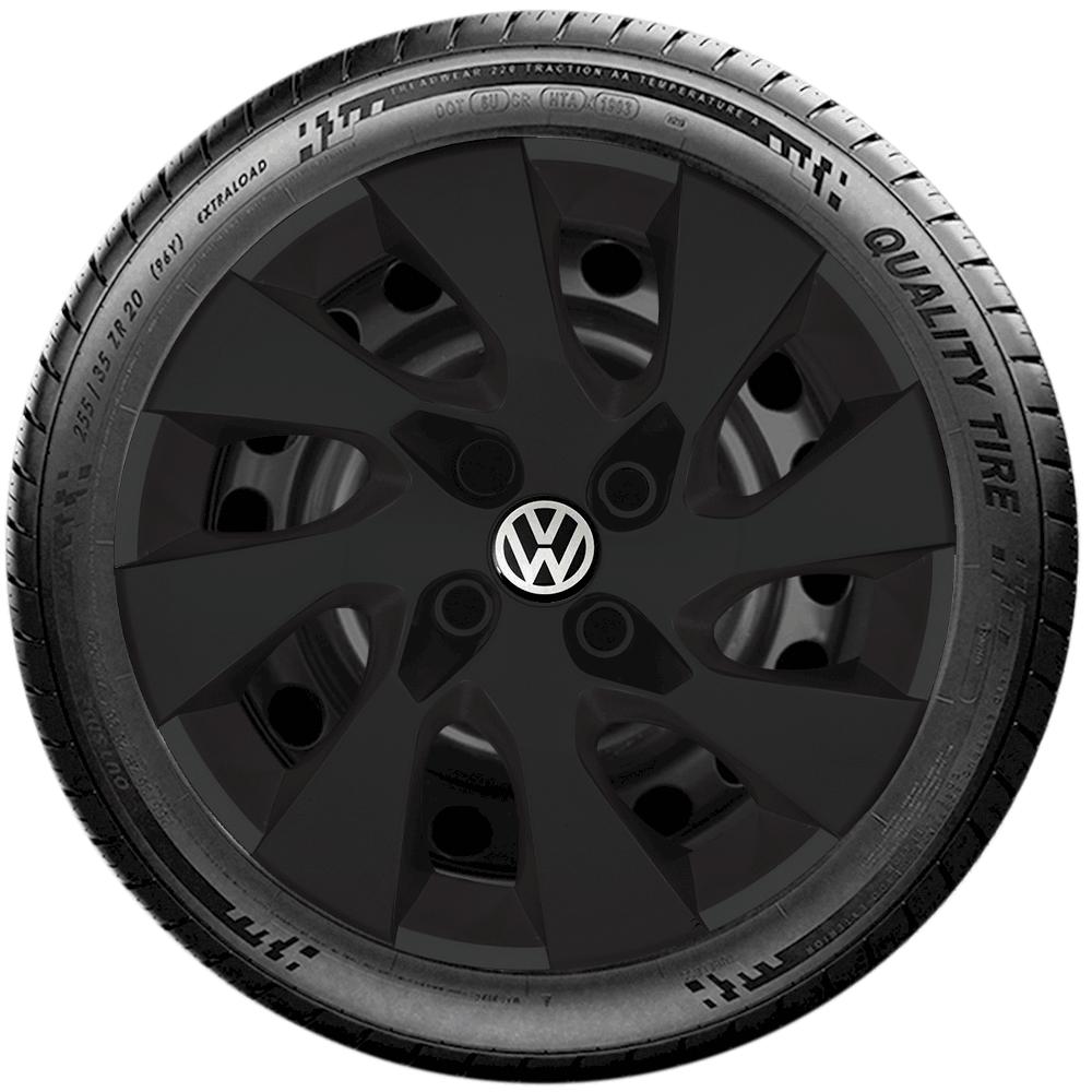 Calota Preto Fosco Aro 14 Volkswagen Gol Parati Saveiro Voyage G133Pf