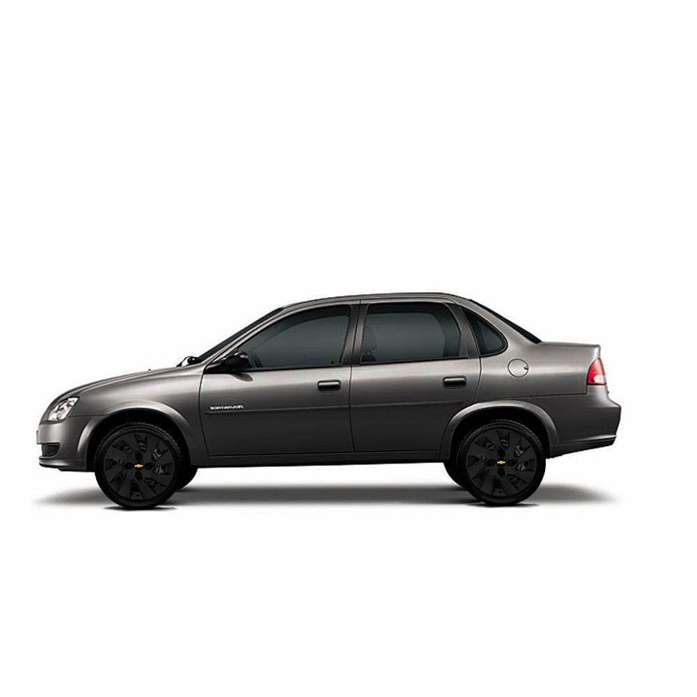 Calota Preto Fosco Aro 15 Chevrolet Gm Celta Corsa Max Astra Meriva G195Pf