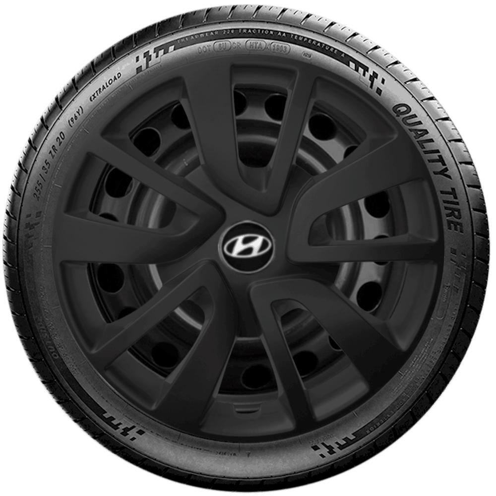 Calota Preto Fosco Aro 15 Hyundai Novo Hb20 Hb20S G869Pf