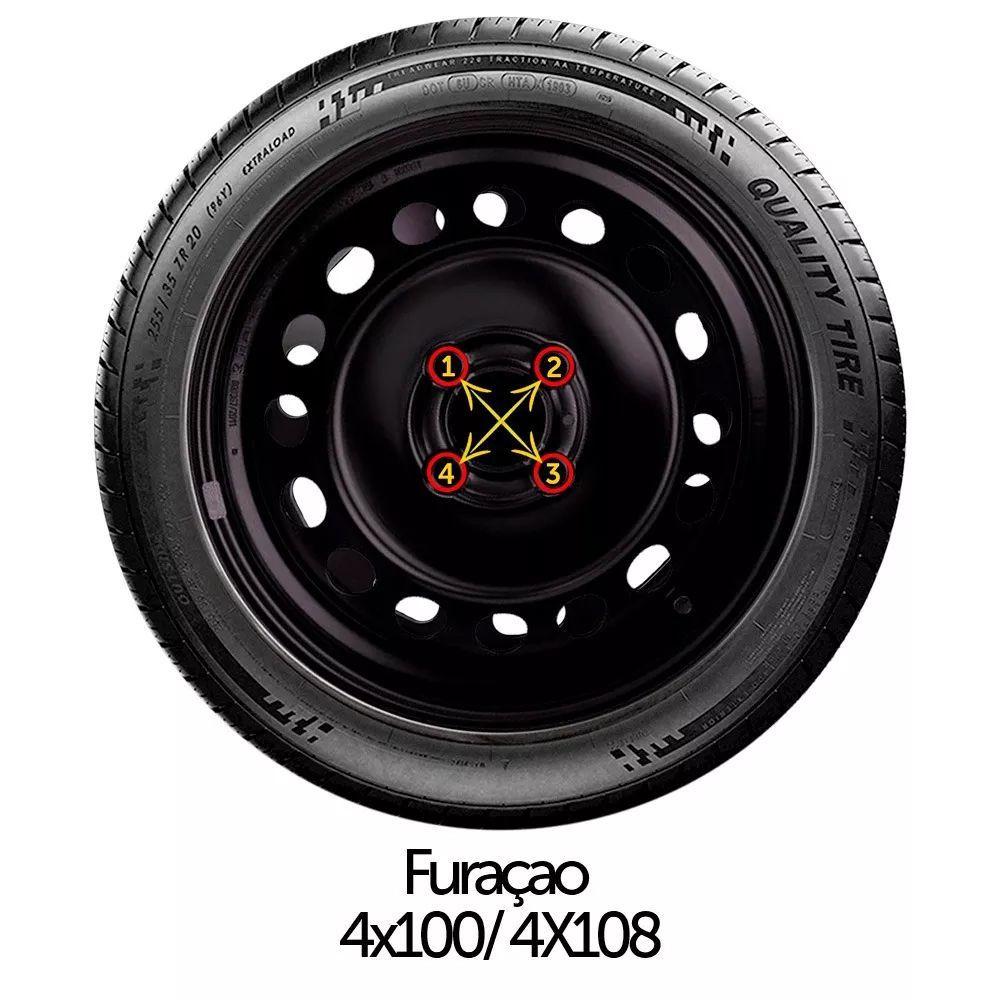 Calota Preto Fosco Aro 15 Renault Clio Sandero Logan G195Pf