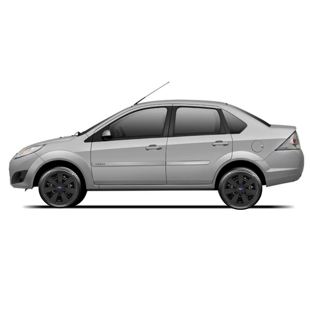 Calota Preto Fosco Jogo 4Pçs Ford Novo Ka Fiesta Focus Aro 14 G461Pfj