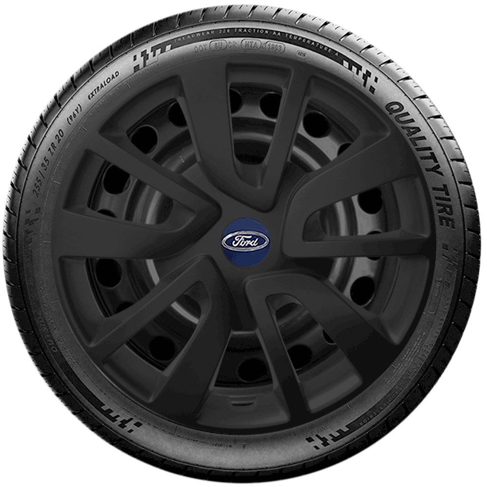 Calota Preto Fosco Jogo 4Pçs Ford Novo Ká Fiesta Focus Aro 15 G869Pfj