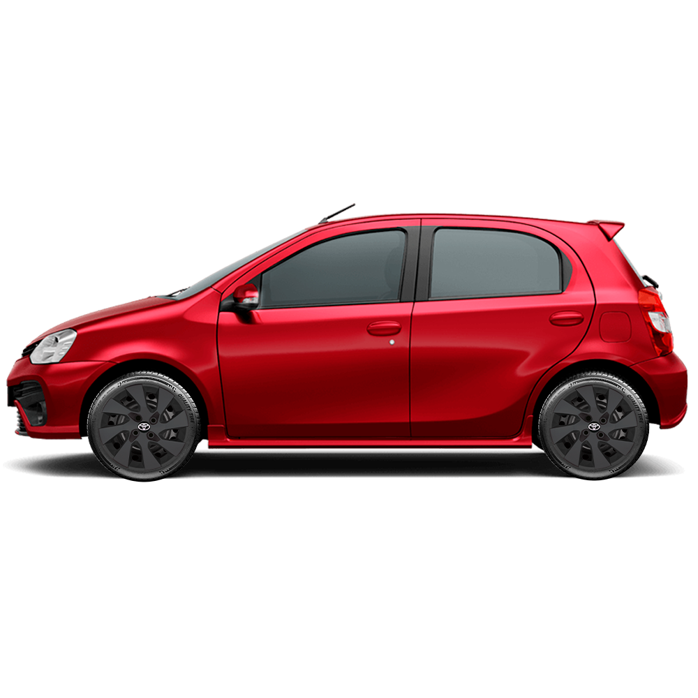 Calota Preto Fosco Jogo 4Pçs Toyota Etios Hatch E Sedam 2020 Aro 15 G195Pfj
