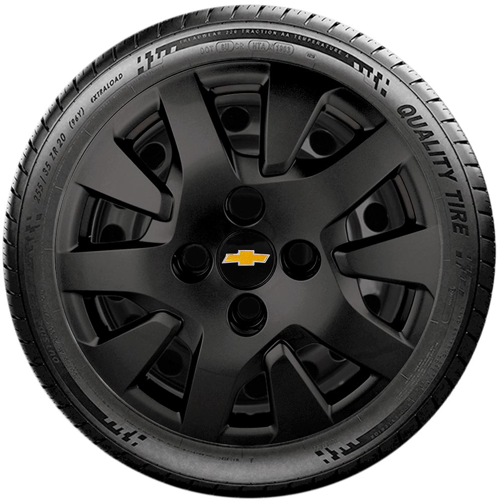 Calota Preto Fosco Aro 14 Chevrolet Onix Novo Prisma 2014 A 2019 G343Pf