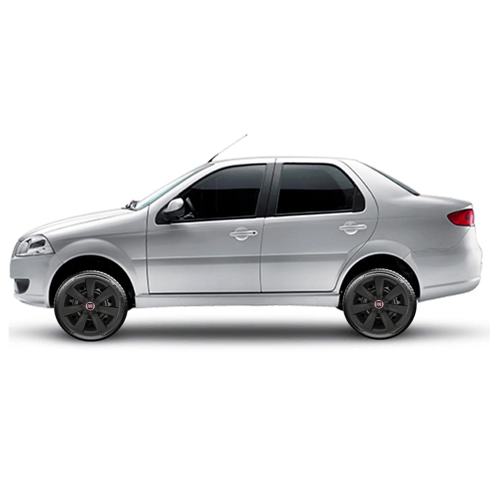 Calota Preto Fosco Aro 14 Fiat Palio Siena Argo Cronos 2019 G461Pf