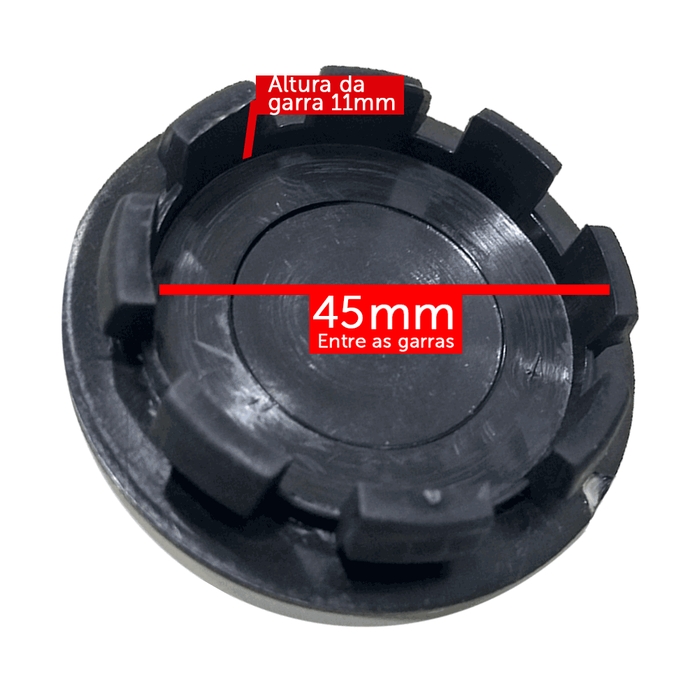 Calotinha Centro Miolo De Roda Cromado Vaska 60mm