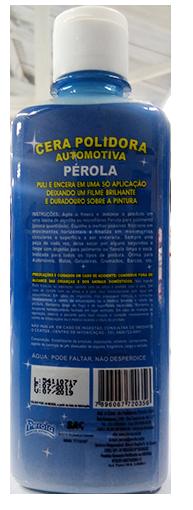CERA POLIDORA COM SILICONE PEROLA 250ML
