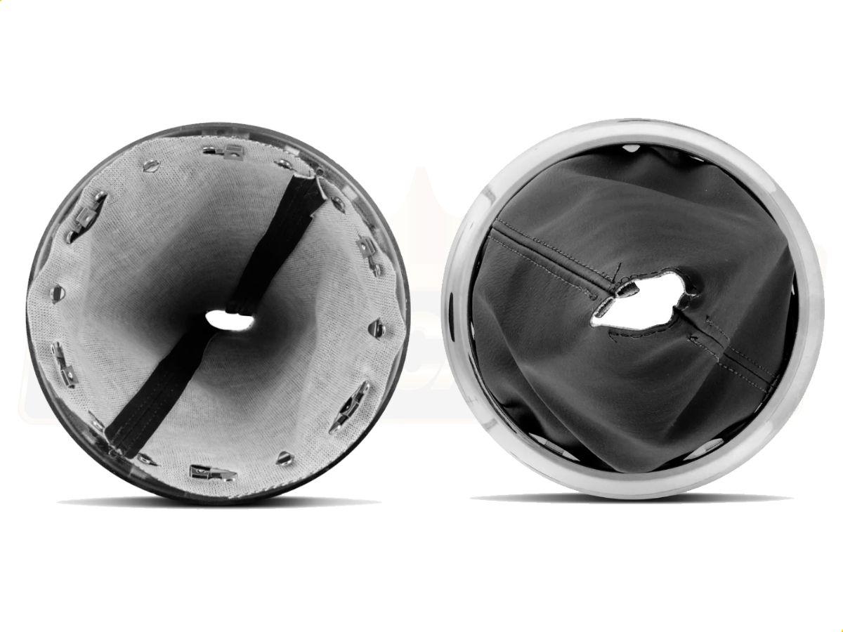 Coifa cromada + Manopla Bola Câmbio cromada para Citroen C3 e C4 - Santo André - SP