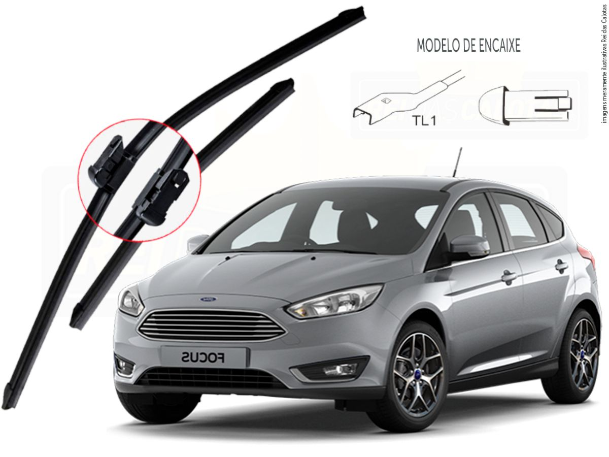 Kit de Palhetas Limpador de Parabrisa Ford Focus hatch 2015 2016 2017 2018 2019 2020