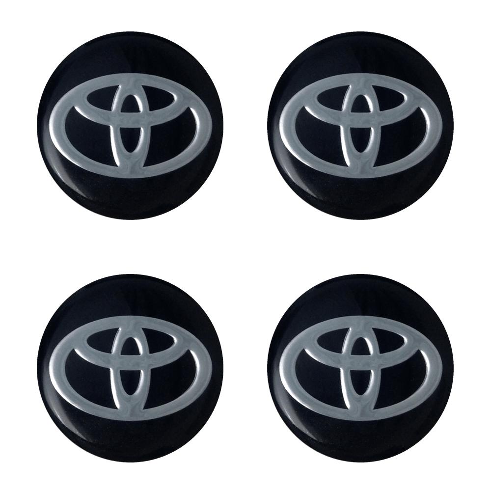 Emblemas de Alumínio Resinado Toyota Preto - Santo Andre - SP - ABC