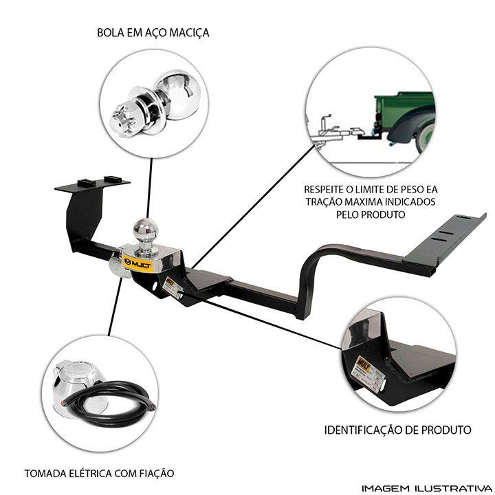 Engate Reboque Fiat Idea Essence 2011 a 2017 Santo Andre - ABC - SP