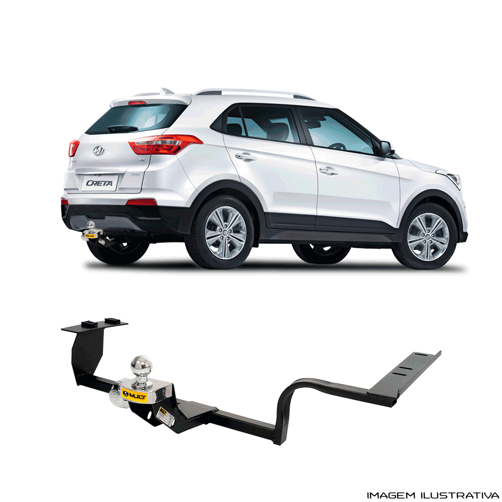 Engate Reboque Hyundai Creta Pulse 1.6 2.0  2017 a 2018 Santo Andre - ABC - SP