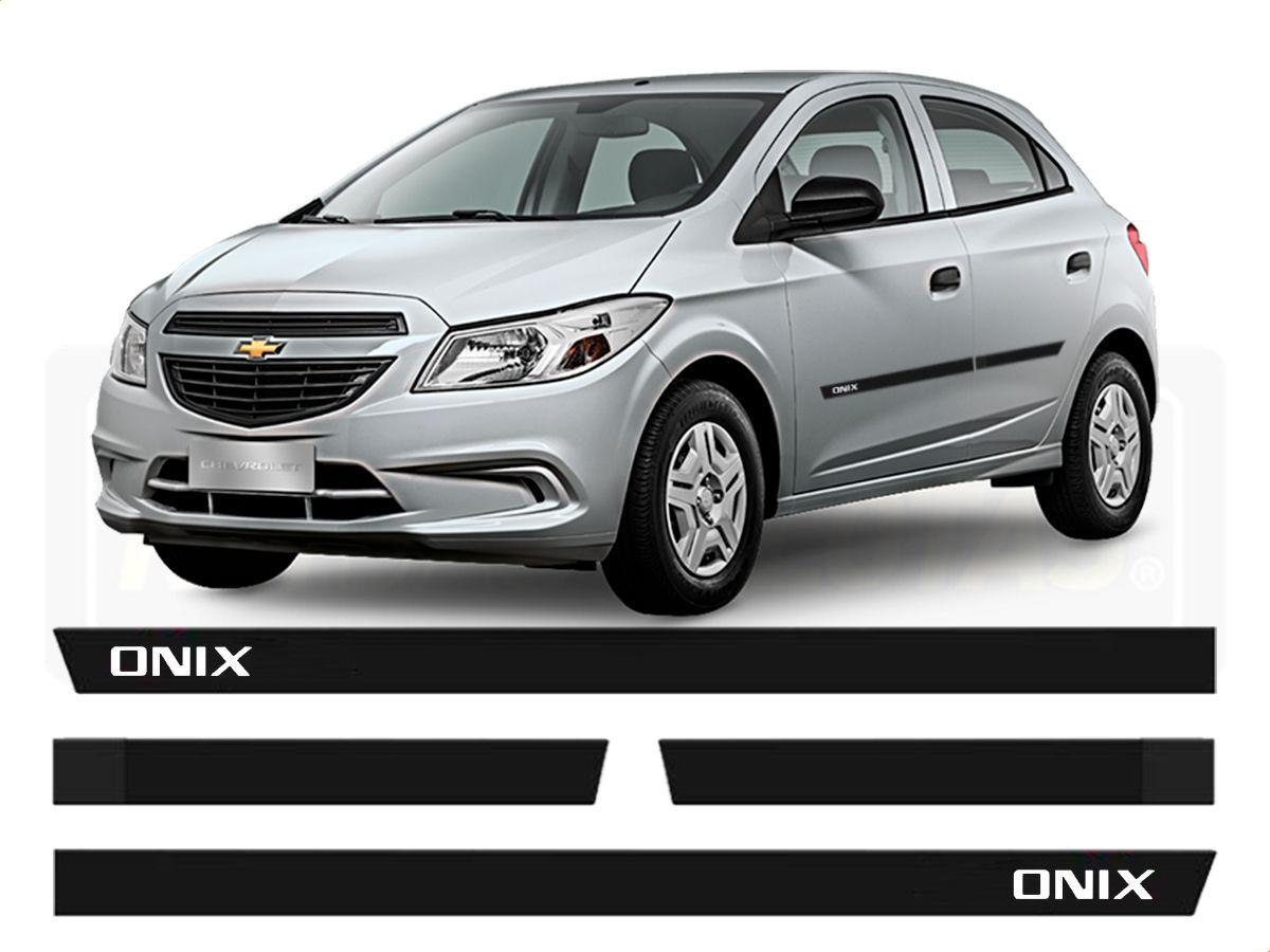 Friso Borrachão Lateral Chevrolet Onix 2013 a 2018
