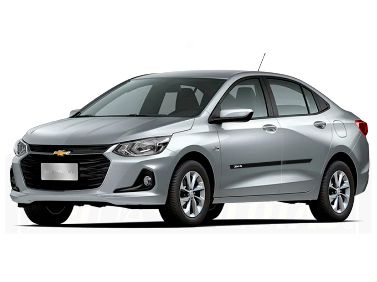 Friso Borrachão Lateral Chevrolet Onix Plus 2020 2021