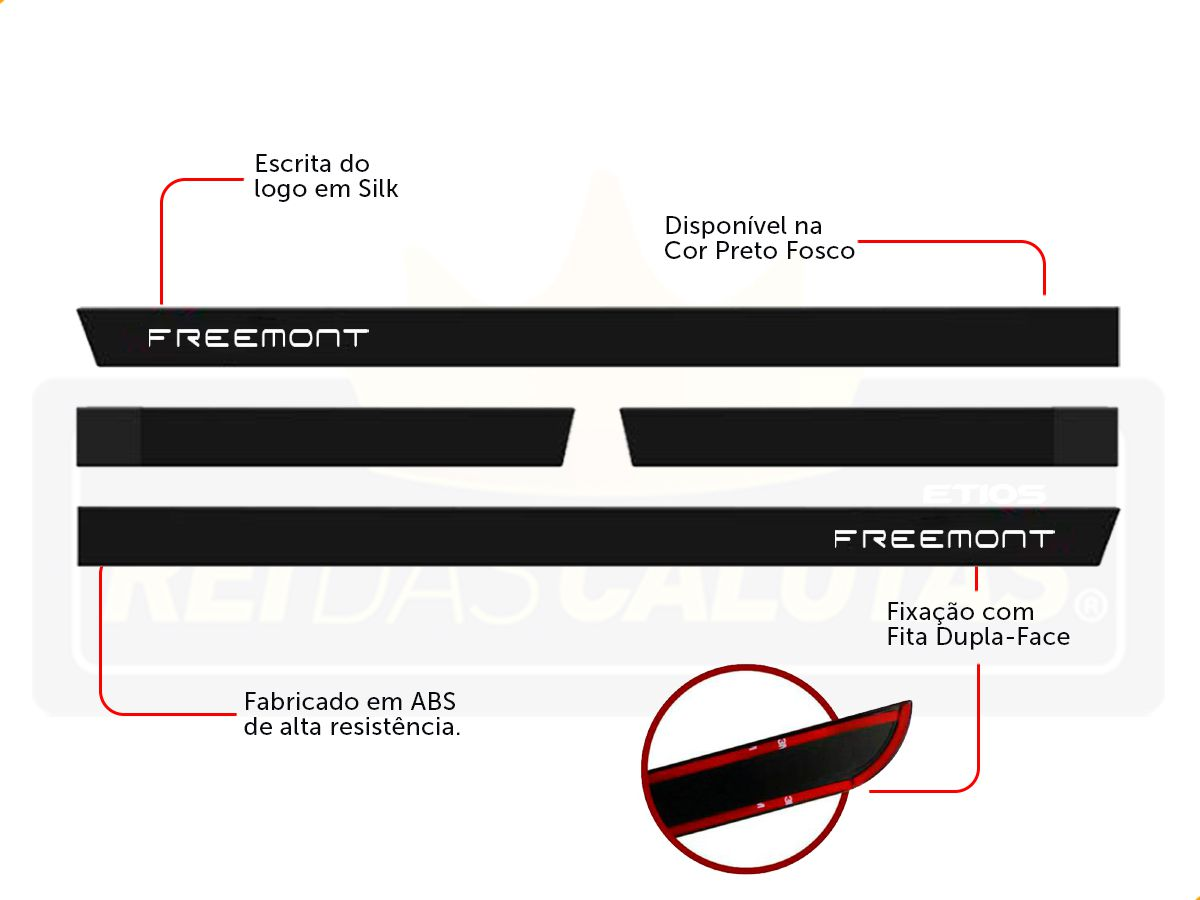 Friso Borrachão Lateral Fiat Freemont Todos Modelos