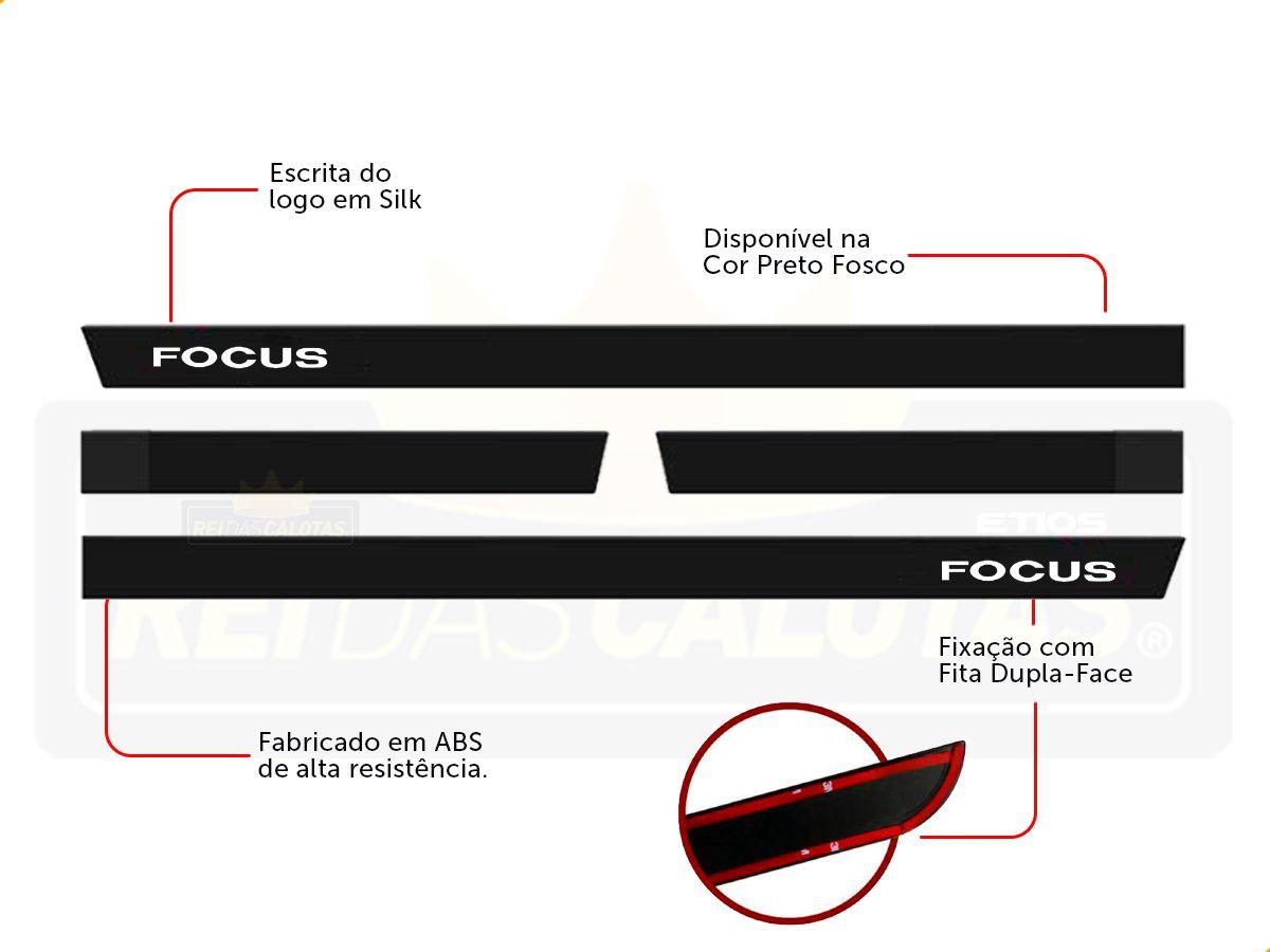 Friso Borrachão Lateral Ford Focus Hatch 2002 a 2008