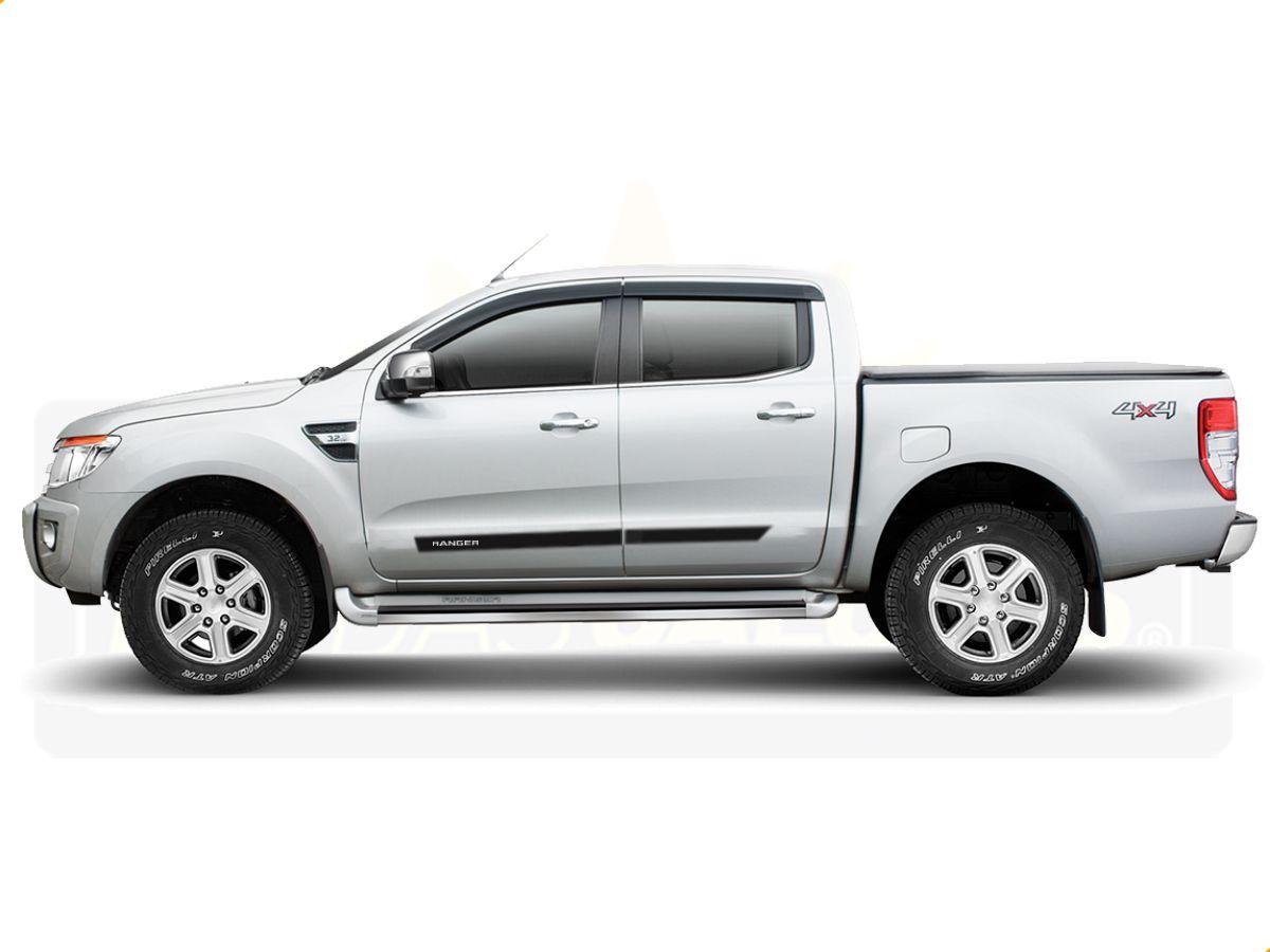 Friso Borrachão Lateral Ford Nova Ranger Cabine Dubla
