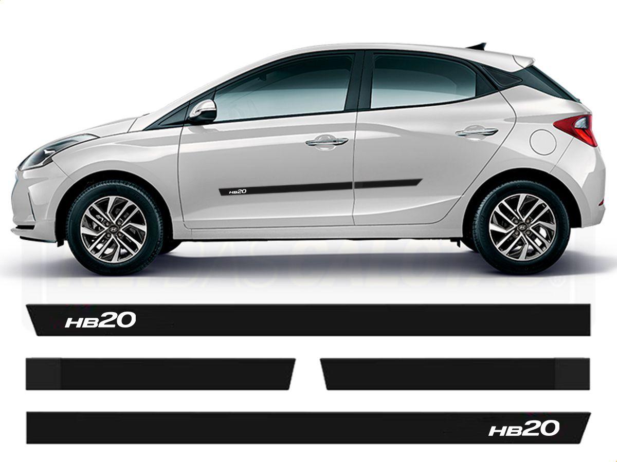 Friso Borrachão Lateral Hyundai Hb20 Nova Geração 2020 2021