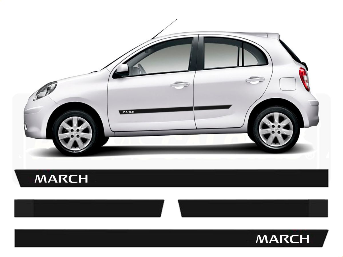 Friso Borrachão Lateral Nissan March 2012 a 2020