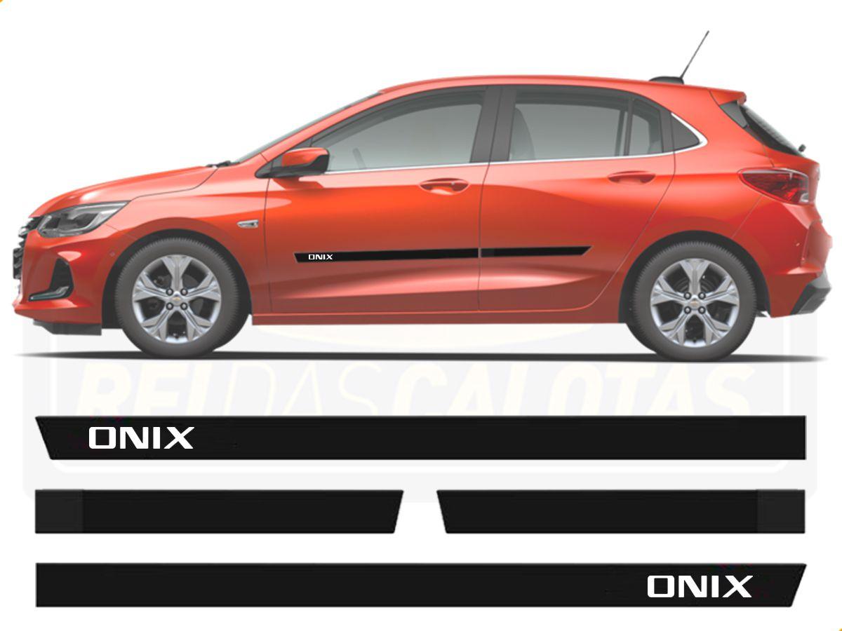 Friso Borrachão Lateral Chevrolet Onix Hatch Nova Geração 2020 2021