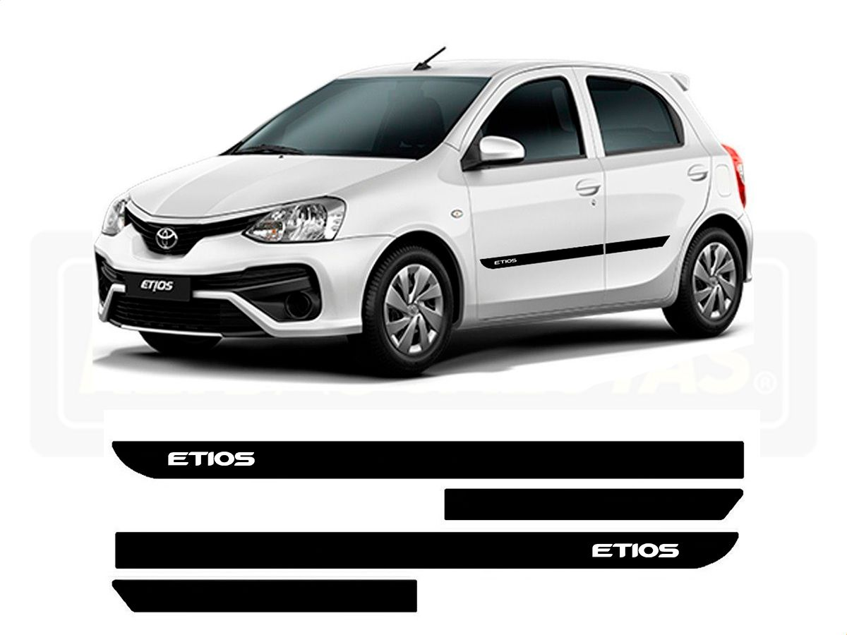 Friso Borrachão Lateral Toyota Etios Hatch e Sedan