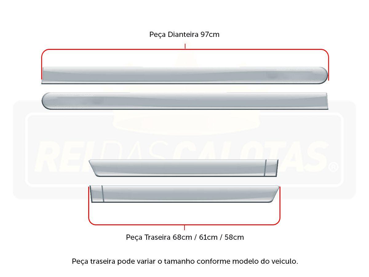 FRISO FACÃO TOYOTA YARIS PRETO PREMIUM / CROMADO C/4 PÇS - TY1020VMS