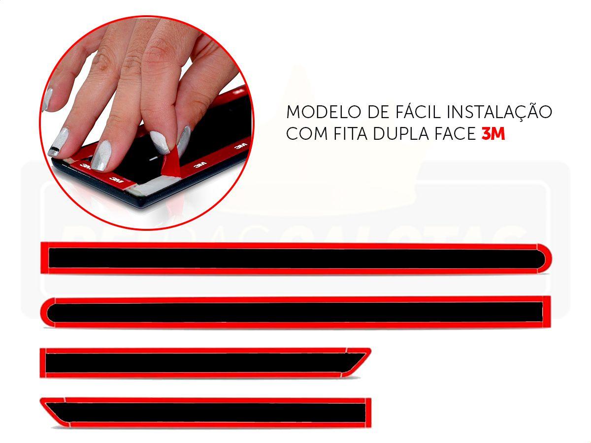 Friso Lateral Original Borrachão Preto Novo Sandero 2015 A 2019