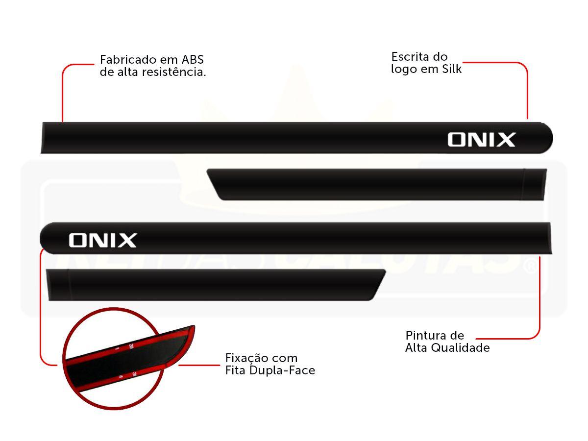 Friso Lateral Personalizado Onix Hatch Nova Geração Preto Ouro Negro