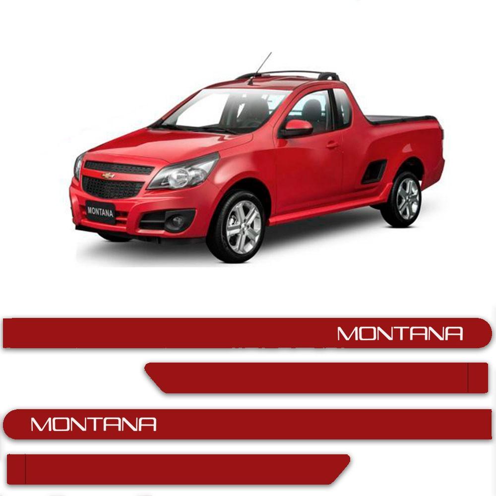 Friso Lateral Personalizado Para Chevrolet Montana