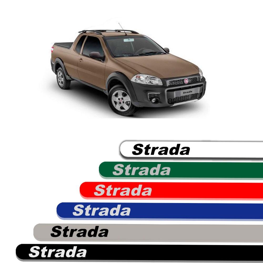 Friso Lateral Personalizado Para Fiat Strada