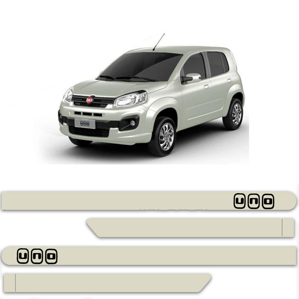 Friso Lateral Personalizado Para Fiat Uno Attractive Vivace