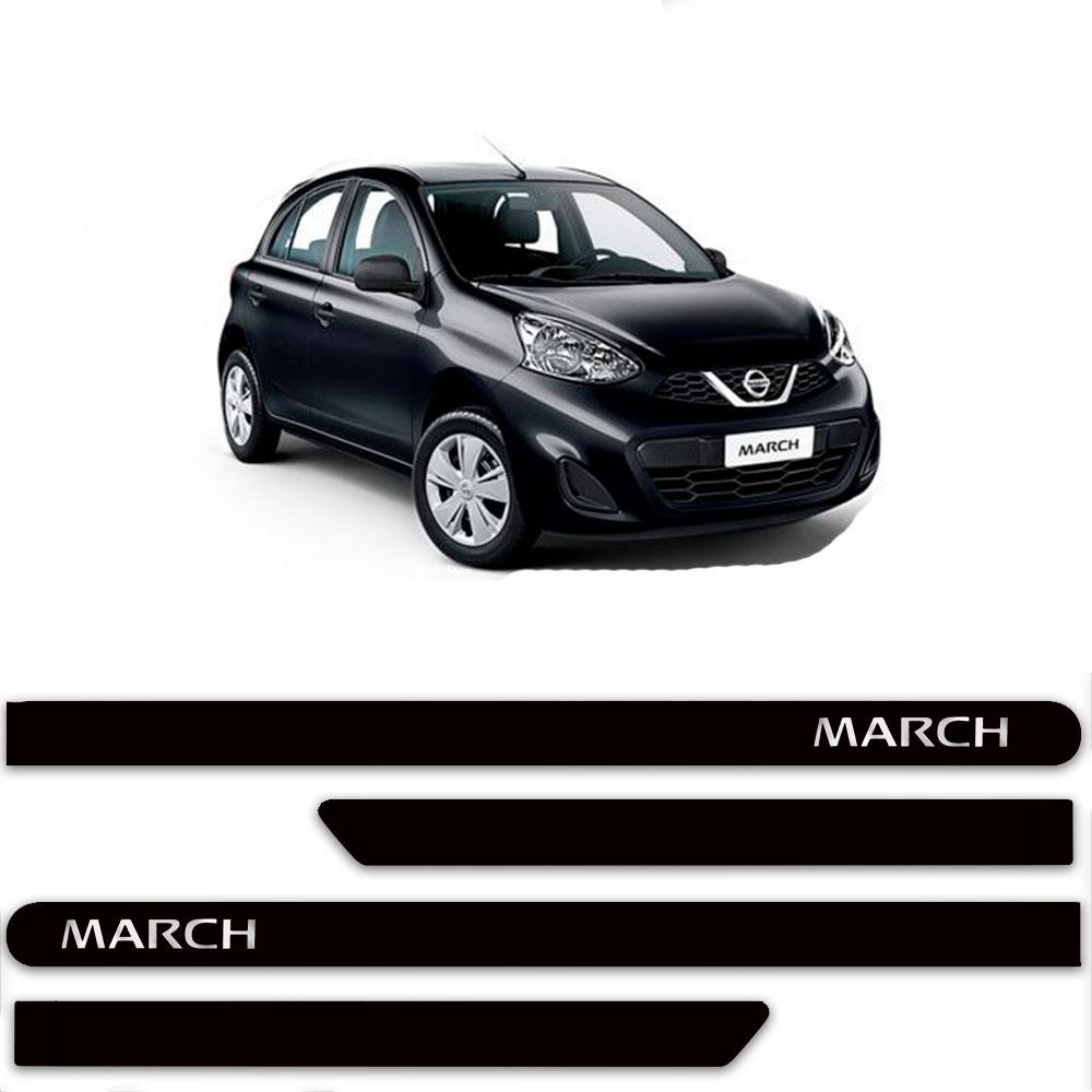 Friso Lateral Personalizado Para Nissan March