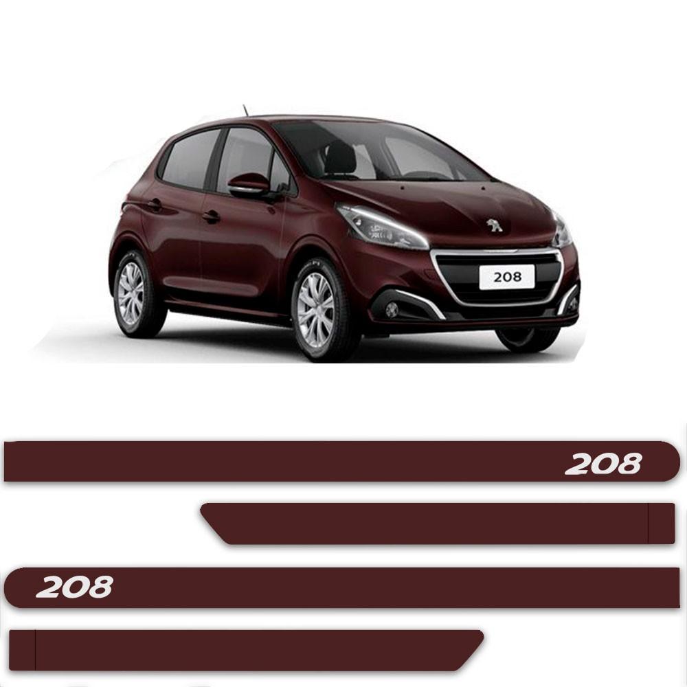Friso Lateral Personalizado Para Peugeot 208
