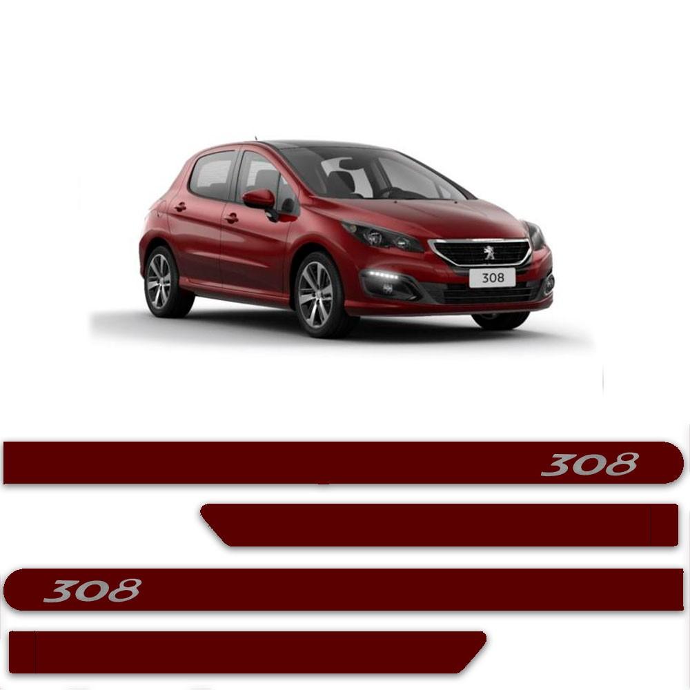 Friso Lateral Personalizado Para Peugeot 308