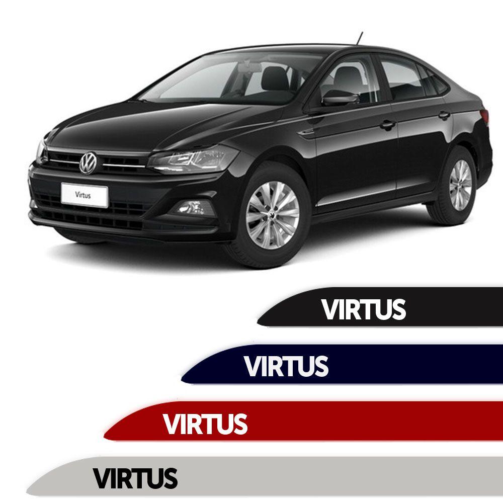 Friso Lateral Personalizado Para  Volkswagen Virtus 2018