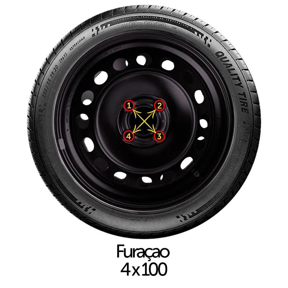 Calota Jogo 4Pçs Fiat Palio Siena Uno Fire Aro 13 G158J