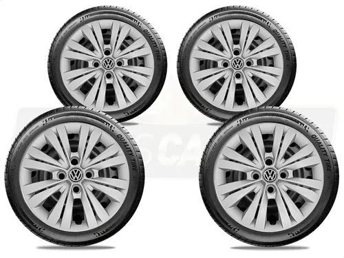 Calota Jogo 4Pçs Volkswagen Gol Saveiro Parati Aro 13 G244J