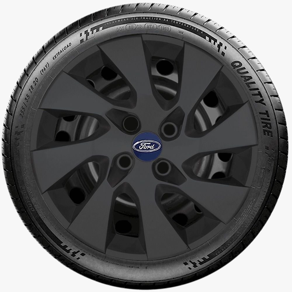 Calota Preto Fosco Jogo 4Pçs Ford Fiesta Focus Ka Fiestinha Aro 14 G133Pfj