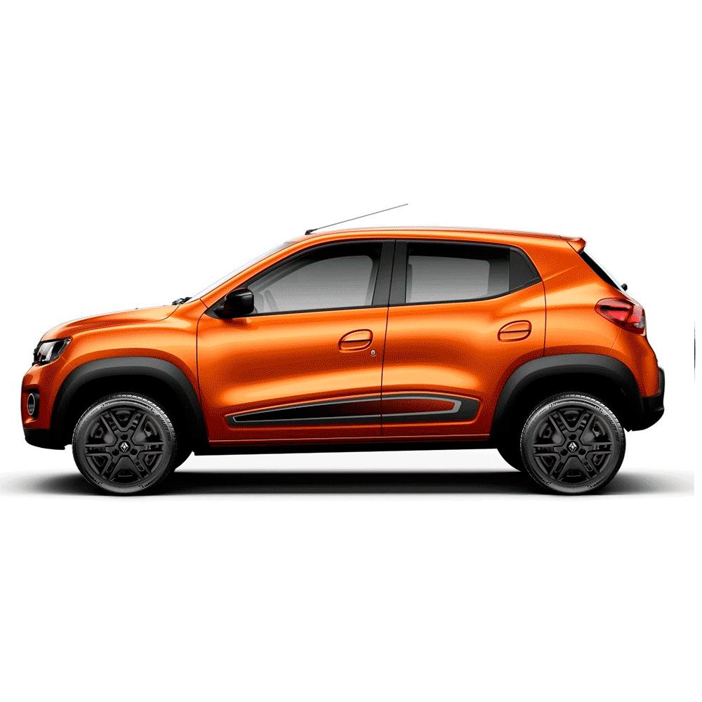 Calota Preto Fosco Jogo 4Pçs Renault Kwid 2018 2019 Aro 14 G877Pfj