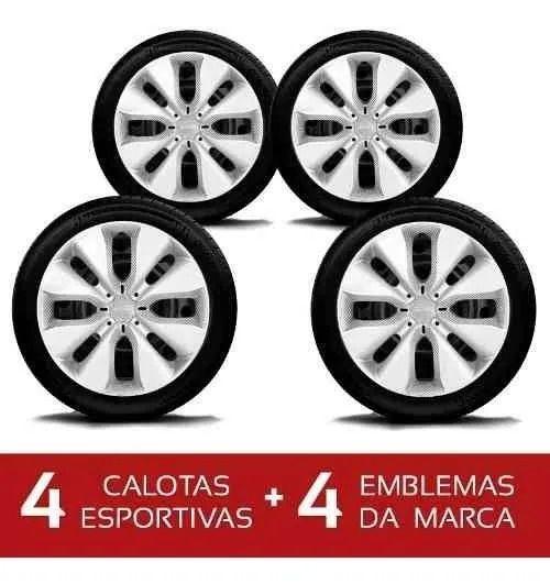 Calota Jogo 4Pçs Nissan Sentra March Versa Aro 15 G130J