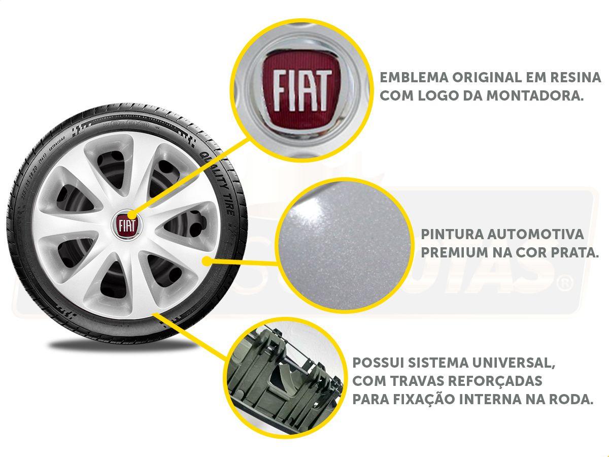 Jogo Calota Aro 13 Fiat Palio Siena Fire G186JE