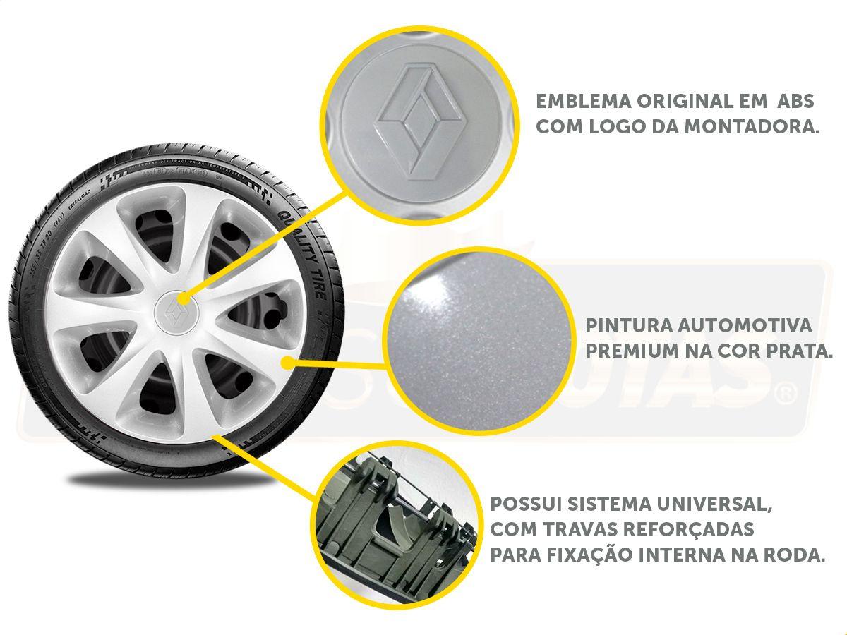 Jogo Calota Aro 13 Renault Renault Clio 2006 a 2017 G186JE
