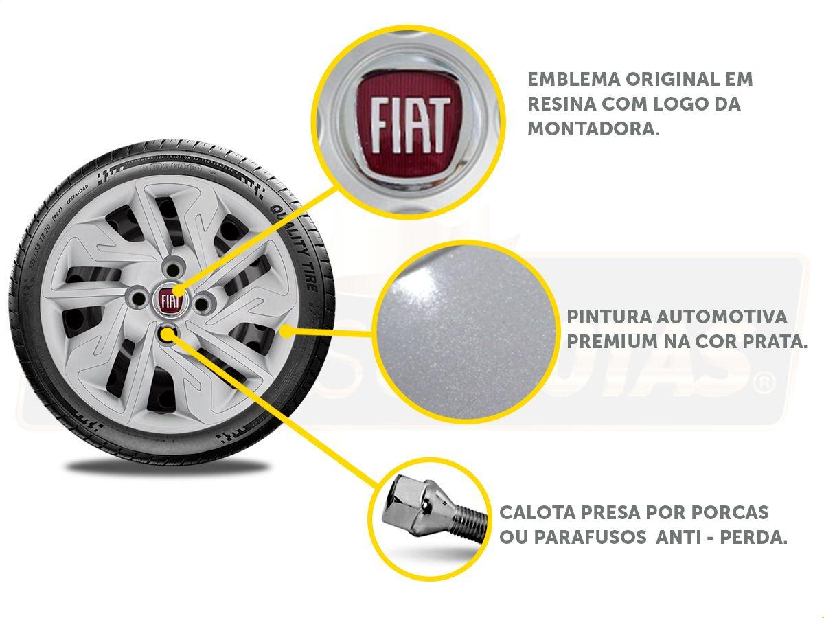 Jogo Calota Aro 14 Fiat Palio Siena Argo 2017 2019 G292JE