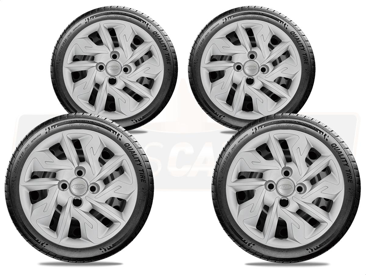 Jogo Calota Aro 14 Ford Ka Hatch Sedan 2016 2019 G292JE
