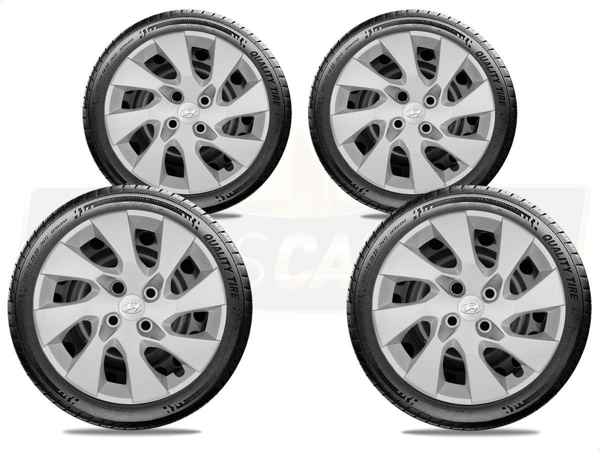 Jogo Calota Aro 14 Hyundai Hb20 Hatch Sedan 2013 2020 G133JE