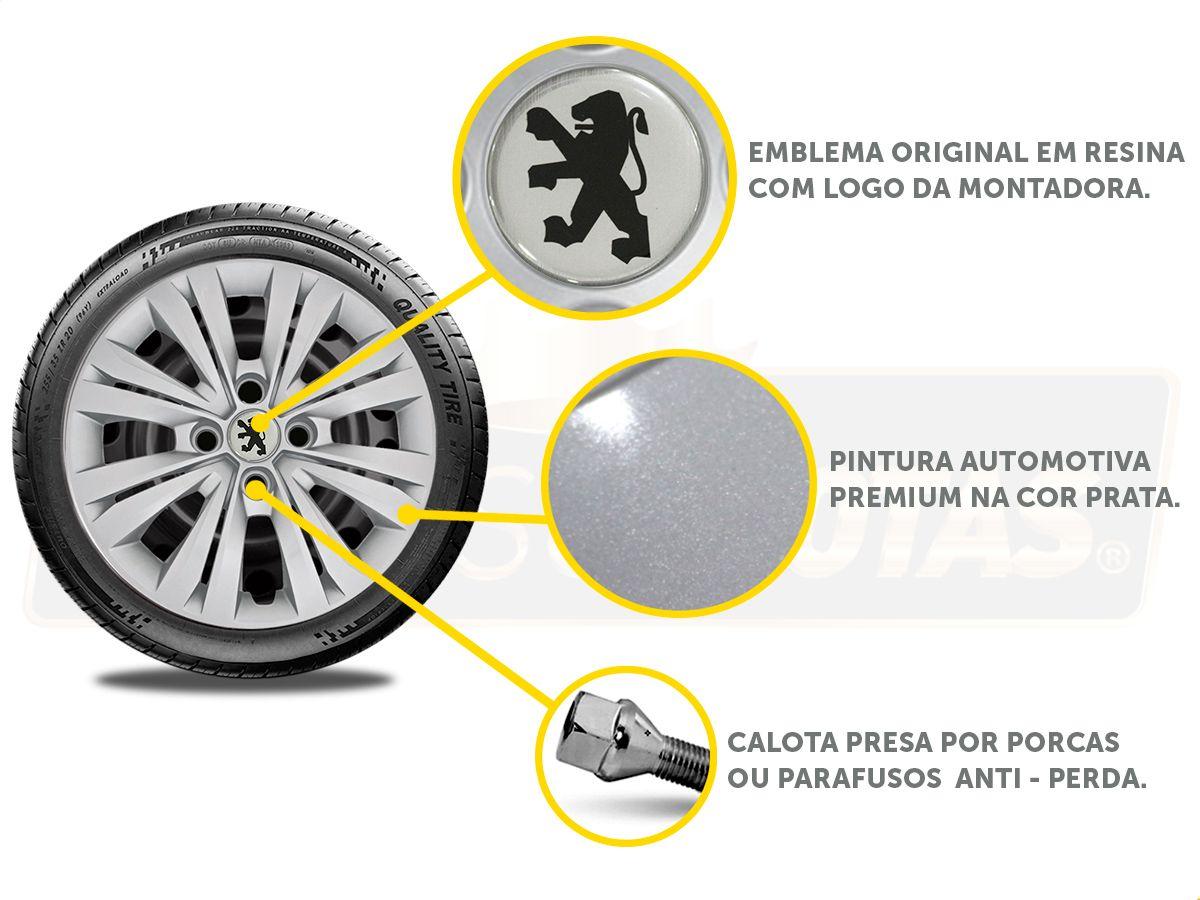 Jogo Calota Aro 14 Peugeot 208 307 306 206 207 G245JE