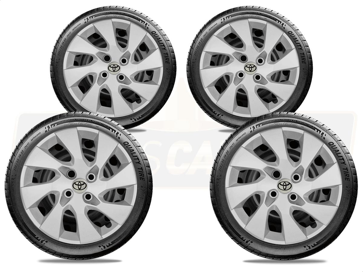 Jogo Calota Aro 14 Toyota Etios Sedan Hatch G133JE