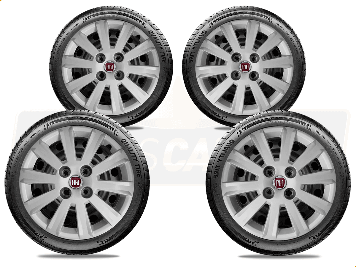 Jogo Calota Aro 15 Fiat Palio Siena Argo 2017 2019 G018JE