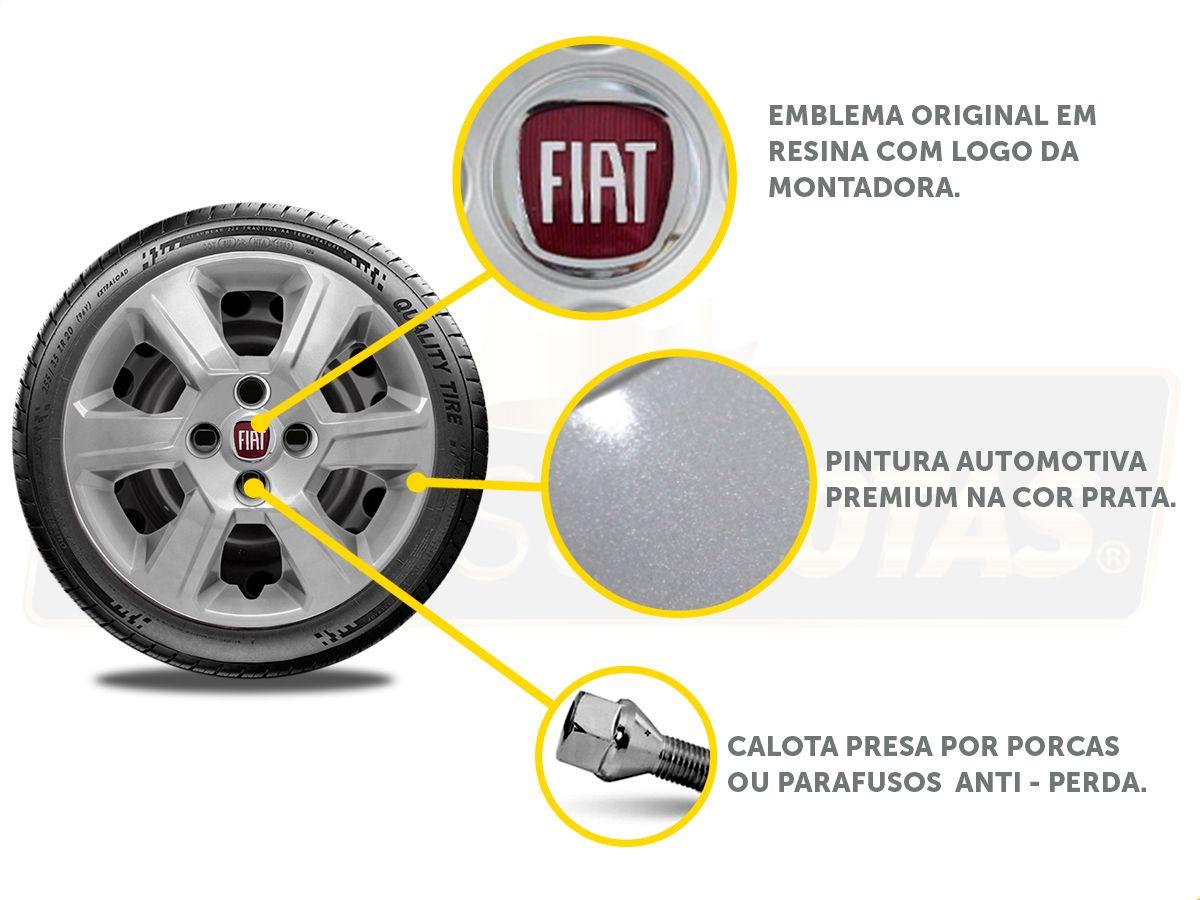 Jogo Calota Aro 15 Fiat Palio Siena Argo 2017 2019 G084JE